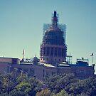 The Texas Capital under renovation by Julia Goss