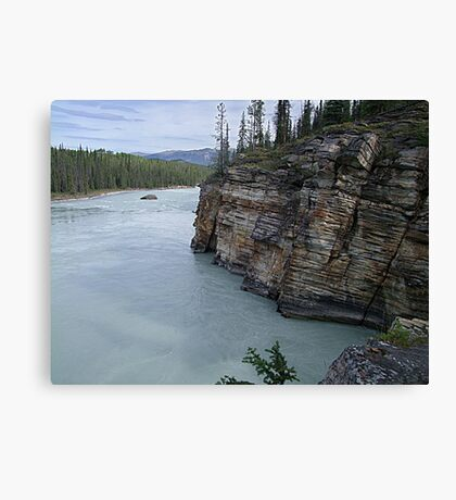 Outflow of Athabasca Falls Canvas Print