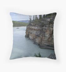 Outflow of Athabasca Falls Throw Pillow