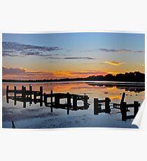 Budgewoi Lake. 11-2-11 sunrise. Poster