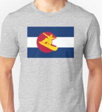 Colorado snowboarder flag T-Shirt