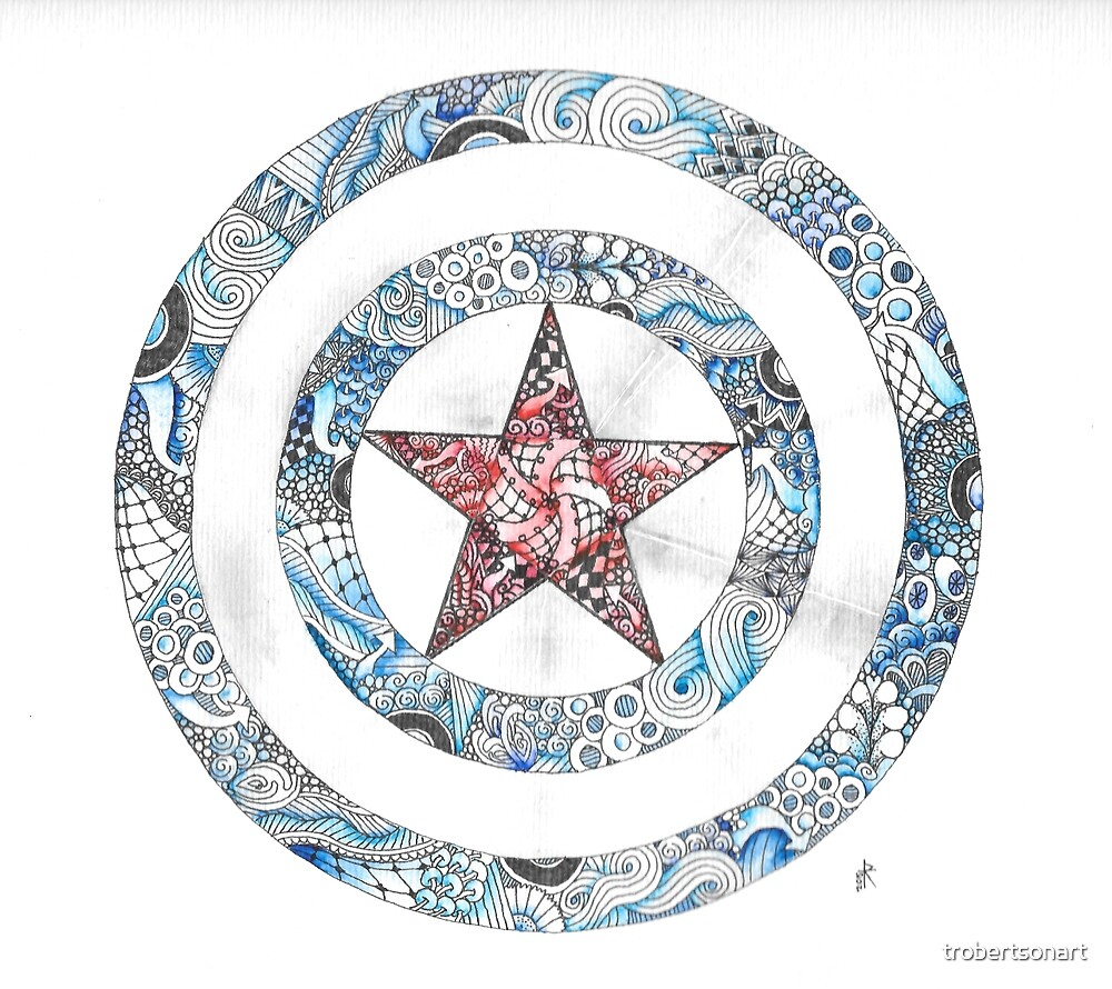 Stars and Stripes Shield by Tara Robertson