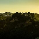 Hazy Hilltop of Bagnoregio, Umbria by MarcW