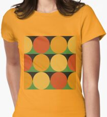 70's retro style dotted pattern Women's Fitted T-Shirt