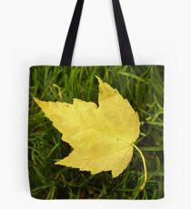 Yellow leaf Tote Bag