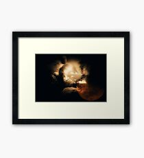 Moon Viewer Framed Print