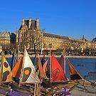 Paris - Tuileries harbour. by Jean-Luc Rollier