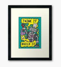 Think Build Robot Framed Print