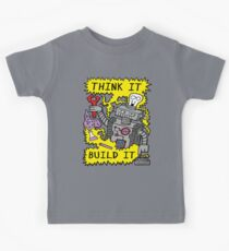 Think Build Robot Kids Tee