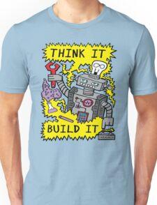Think Build Robot Unisex T-Shirt