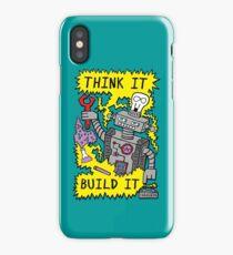 Think Build Robot iPhone Case/Skin