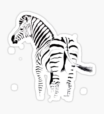THE ZEBRA TEE - In black and white Sticker