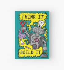 Think Build Robot Hardcover Journal