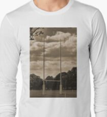 Rugby goal post at Rugby School Long Sleeve T-Shirt