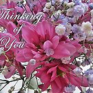 Thinking of You - floral note cards and stickers by LeisureLane1