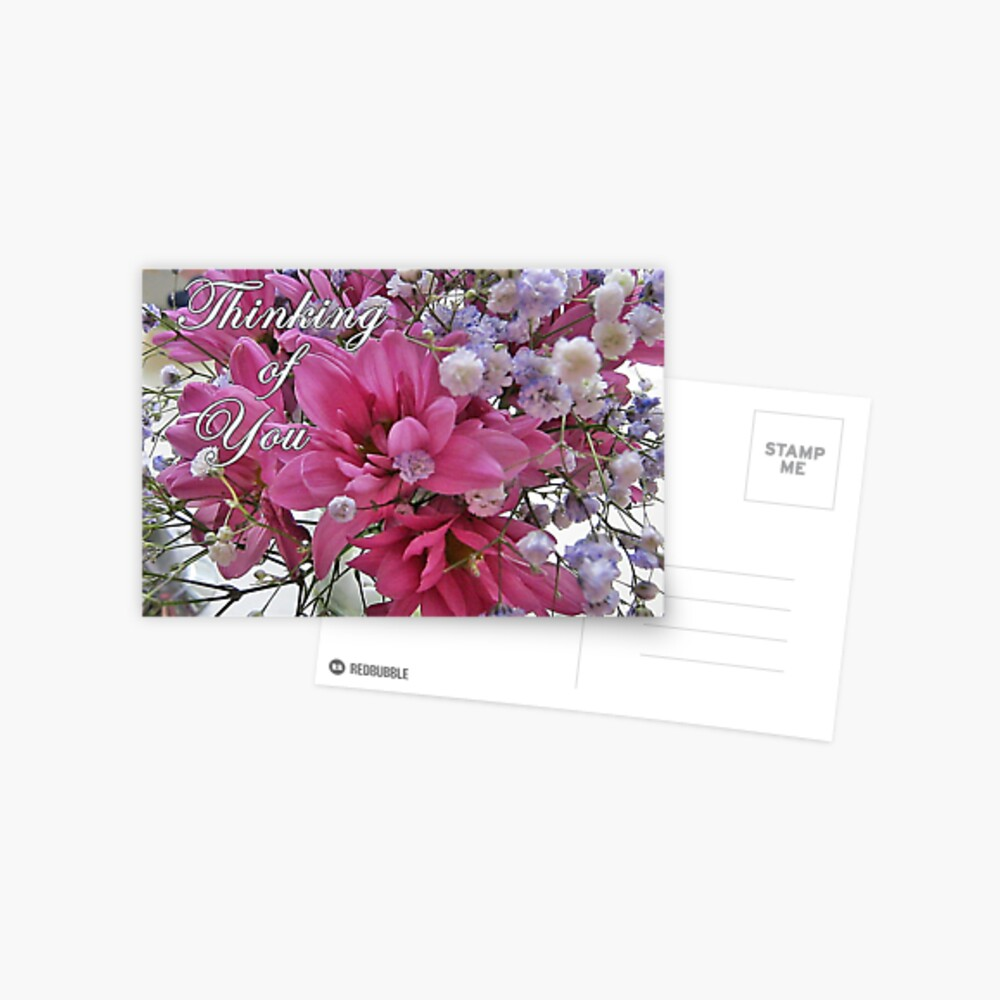 Thinking of You - floral note cards and stickers Postcard