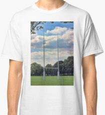 Rugby goal post at Rugby School Classic T-Shirt