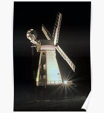 Floodlit Windmill Poster