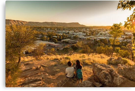 Anzac Hill, Alice Springs, Australia by Pauline Tims