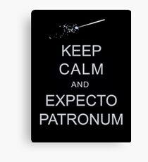 Keep Calm and Expecto Patronum Canvas Print