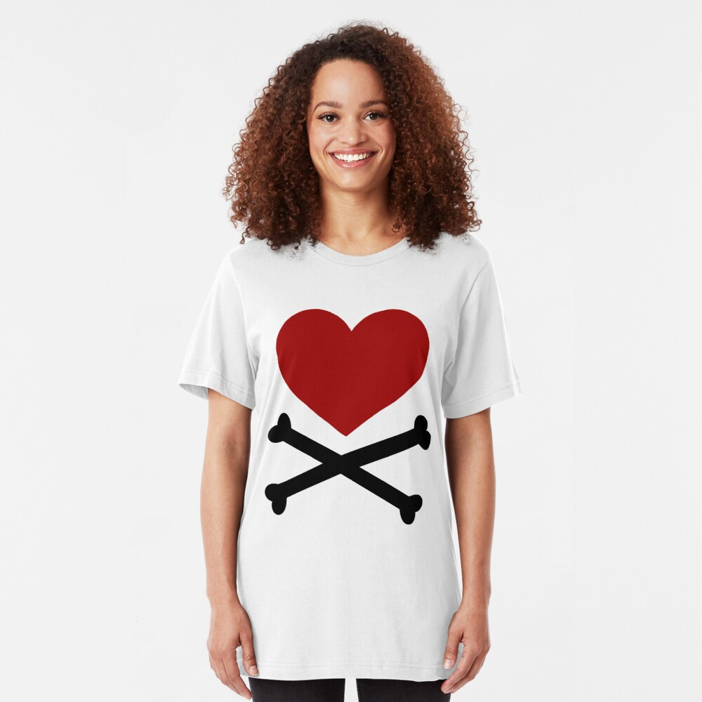 Pirate Love (Red/Black). Slim Fit T-Shirt