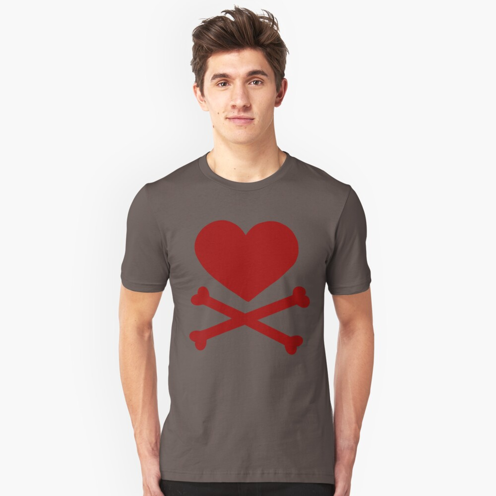 Pirate Love (Red). Slim Fit T-Shirt