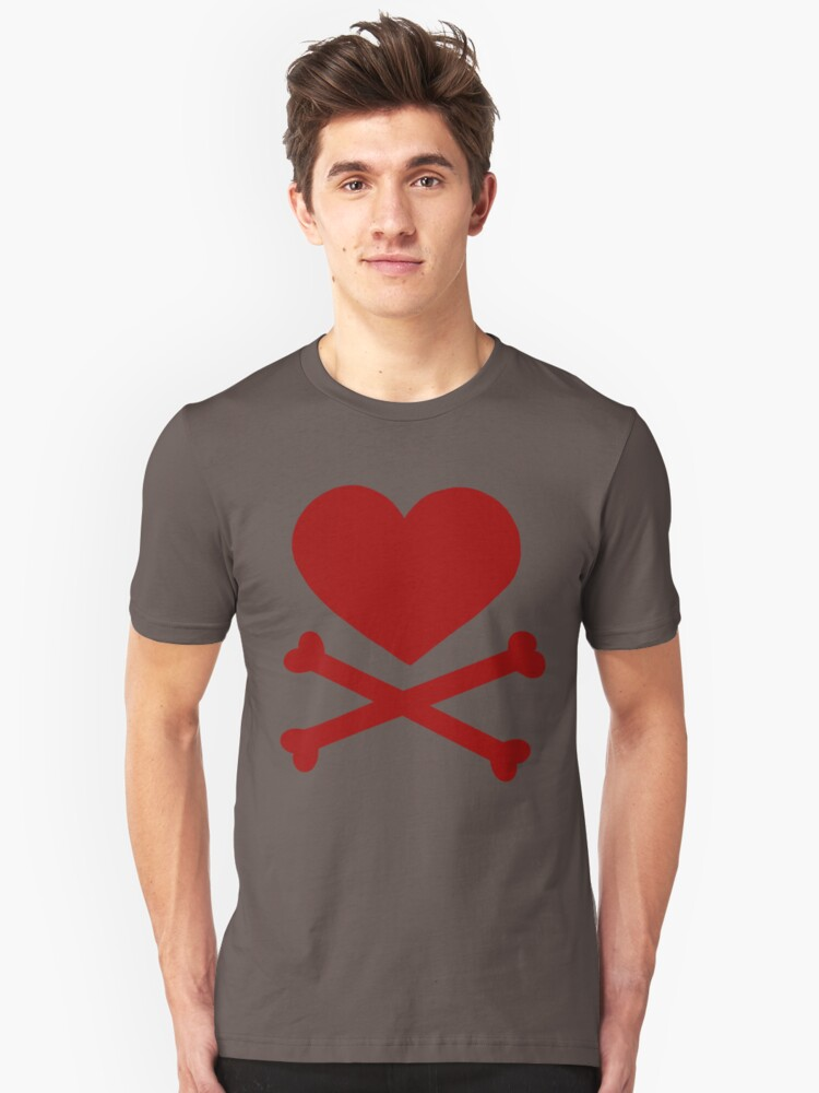 Pirate Love (Red). Unisex T-Shirt Front