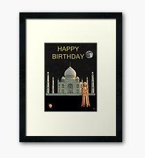 The Scream World Tour India Taj Mahal Happy Birthday Framed Print