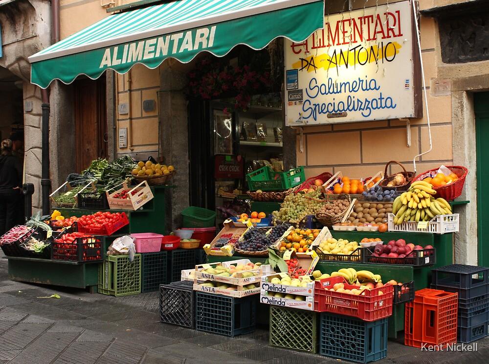 Market in Riomaggiore by Kent Nickell
