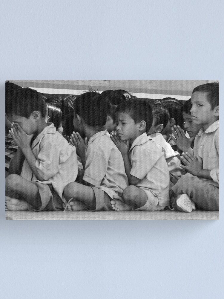 Alternate view of the boy who has trainers Canvas Print