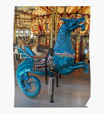 Hippocampus carousel ride Poster
