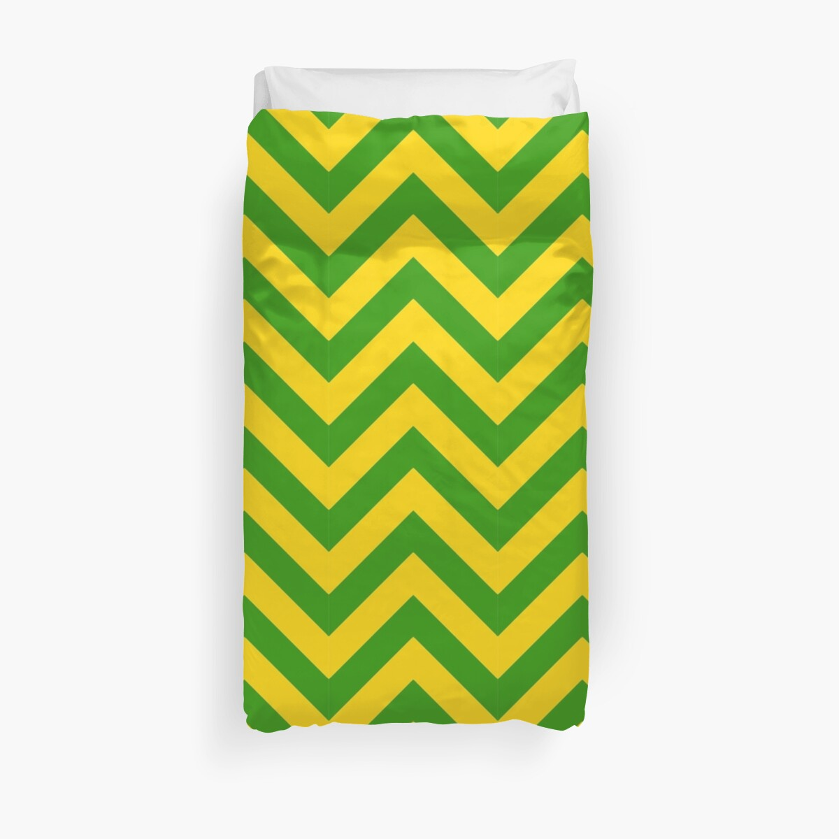 Green and Gold Chevron by Umbrae