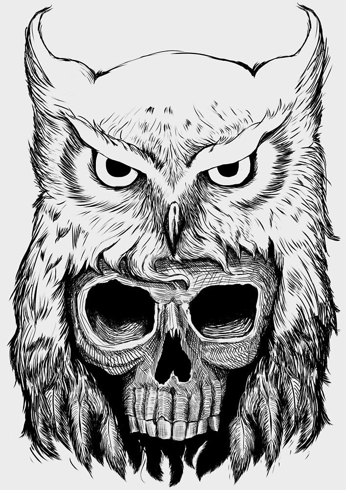 Owlskull by Thiago García