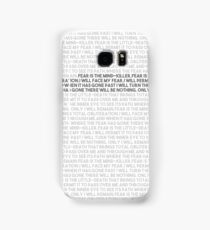 Litany against fear Samsung Galaxy Case/Skin