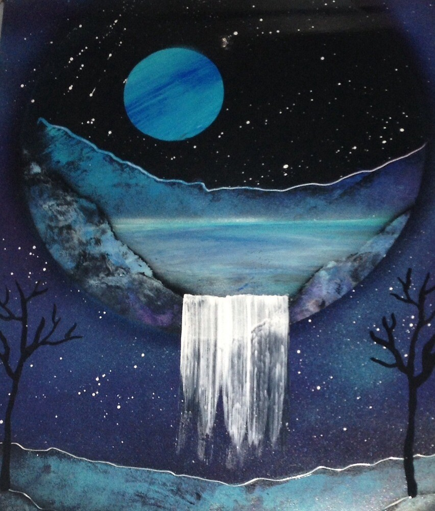 Caved Waterfall by Randi Smith