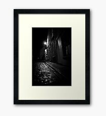Old Kipper Shop Street Framed Print