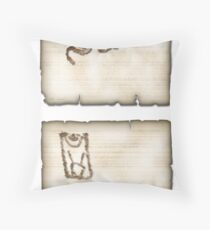 Warrior & Game Throw Pillow