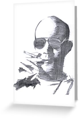 Hunter S Thompson by mikmcdade