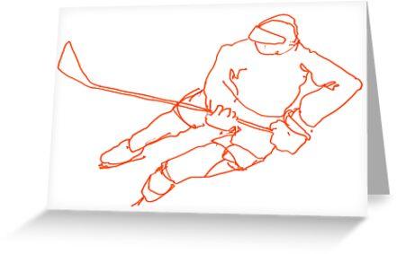 Hockey Player 6 by Richard Butler