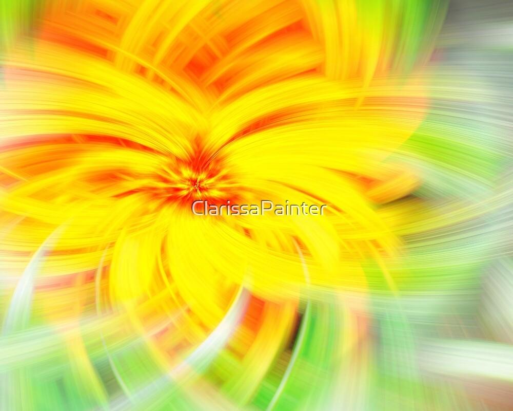 spiral sunflower by ClarissaPainter