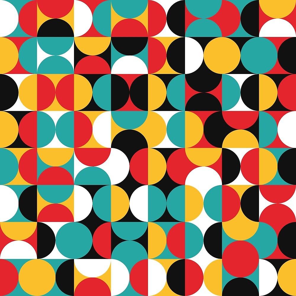 Colorful Geometric Mosaic by joshradloff