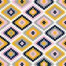 Kelim Protection Pattern - Blush Ringelblume von Cat Coquillette