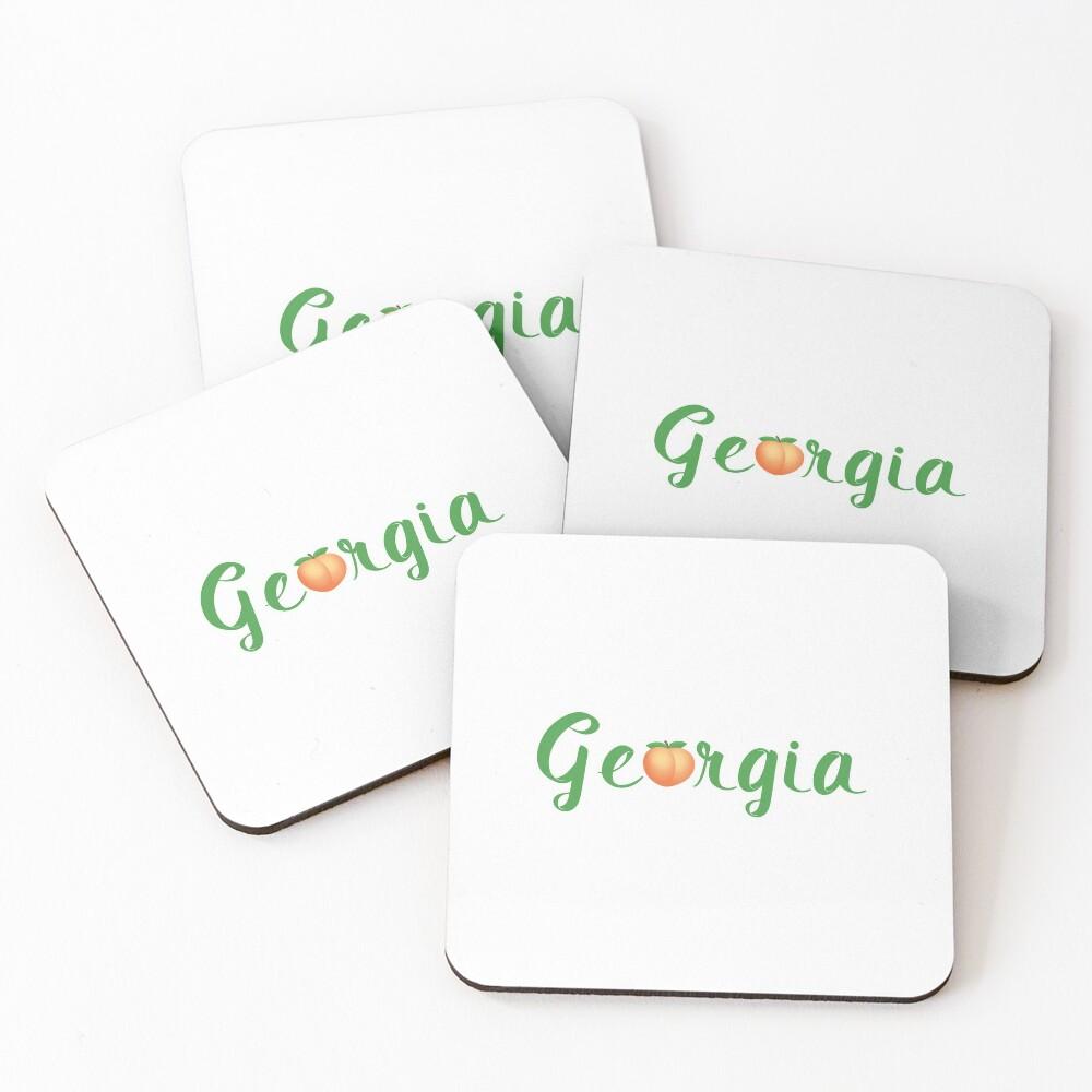 Georgia Peach Coasters (Set of 4)