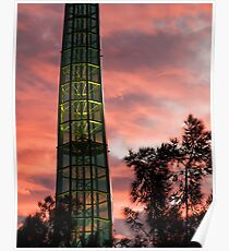 Swan Bell Tower at Dusk Poster