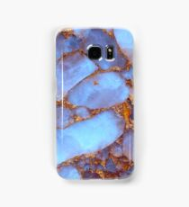 Blue Quartz and Gold iPhone / Samsung Galaxy Case Samsung Galaxy Case/Skin