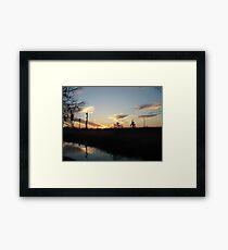 Sunset over Econfina Creek 2/11/2011 Framed Print