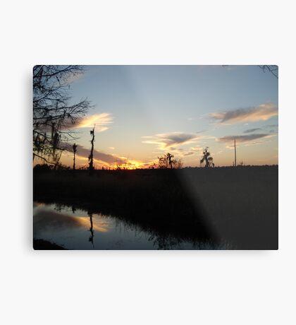 Sunset over Econfina Creek 2/11/2011 Metal Print
