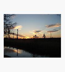 Sunset over Econfina Creek 2/11/2011 Photographic Print