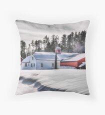 Drifting Snow Throw Pillow