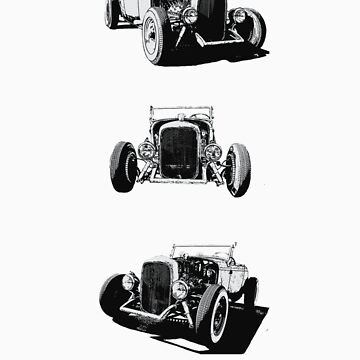 Convoy of classic cars by Tee-King